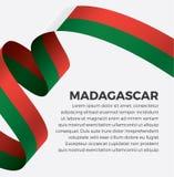 Bandera de Madagascar para decorativo Fondo del vector fotos de archivo libres de regalías