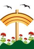 Bandera de madera Imagen de archivo libre de regalías