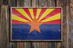 Bandera de madera de Arizona ilustración del vector