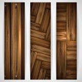 Bandera de madera de la textura. stock de ilustración