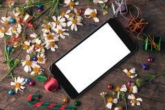 Bandera de madera del fondo de la Navidad y del Año Nuevo Imágenes de archivo libres de regalías