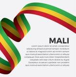 Bandera de Malí para decorativo Fondo del vector imágenes de archivo libres de regalías