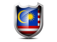 Bandera de Malasia Foto de archivo