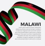 Bandera de Malawi para decorativo Fondo del vector fotos de archivo libres de regalías