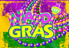 Bandera de Mardi Gras Fotografía de archivo
