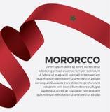 Bandera de Marruecos para decorativo Fondo del vector foto de archivo