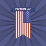 Bandera de Memorial Day del vector Fotos de archivo