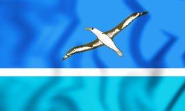 Bandera de Midway Islands ilustración 3D Fotos de archivo