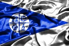 Bandera de Minneapolis, Minnesota que agita en el viento Los Estados Unidos de América ilustración del vector