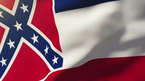 Bandera de Mississippi que agita en el viento Sol de colocación libre illustration