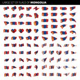 Bandera de Mongolia, ejemplo del vector Fotografía de archivo libre de regalías