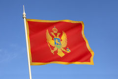Bandera de Montenegro - Europa Fotos de archivo