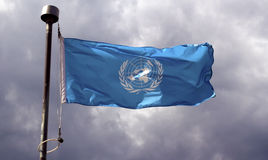 Bandera de Naciones Unidas Fotos de archivo libres de regalías