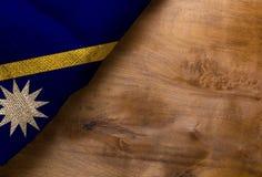 Bandera de Nauru Fotos de archivo