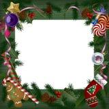 Bandera de Navidad y del Año Nuevo y tarjeta de felicitación stock de ilustración