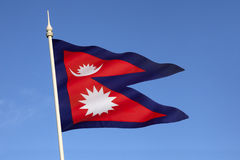 Bandera de Nepal Fotografía de archivo libre de regalías