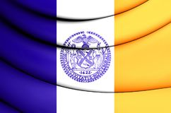 Bandera de New York City, los E.E.U.U. Fotografía de archivo libre de regalías