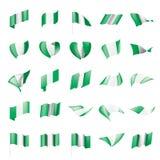 Bandera de Nigeria, ejemplo del vector Imagen de archivo