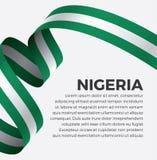 Bandera de Nigeria para decorativo Fondo del vector imágenes de archivo libres de regalías