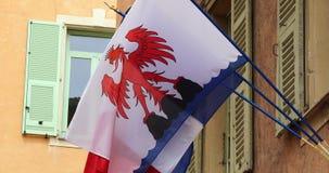 Bandera de Niza almacen de metraje de vídeo