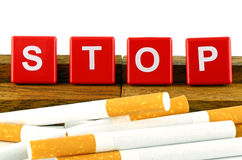 Bandera de no fumadores de la campaña Foto de archivo libre de regalías