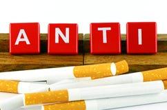 Bandera de no fumadores de la campaña Fotografía de archivo libre de regalías