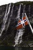 Bandera de Noruega. Foto de archivo libre de regalías