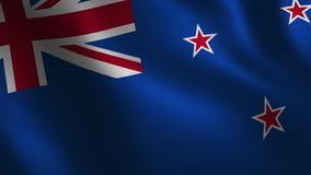 Bandera de Nueva Zelanda que agita 3d abstraiga el fondo Animación del lazo