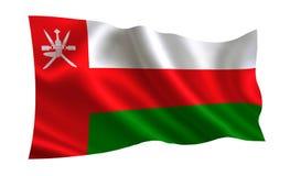 Bandera de Omán Una serie de banderas del ` del mundo ` El país - bandera de Omán ilustración del vector