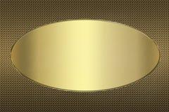 Bandera de oro Foto de archivo libre de regalías