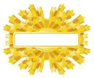 Bandera de oro de la estrella libre illustration