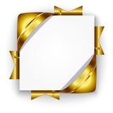 Bandera de oro del descuento Imagen de archivo libre de regalías