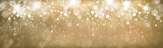 Bandera de oro del vector Imagen de archivo libre de regalías