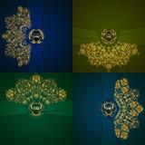 Bandera de oro elegante del marco Imagen de archivo