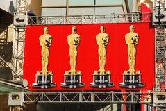 Bandera de Oscars, Hollywood fotos de archivo