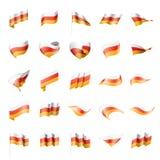 Bandera de Osetia del Sur, ejemplo del vector Imagen de archivo libre de regalías