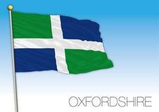 Bandera de Oxfordshire, Reino Unido Fotografía de archivo