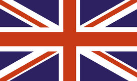 Bandera de país BRITÁNICA Imagen de archivo