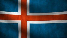 Bandera de país de Islandia libre illustration