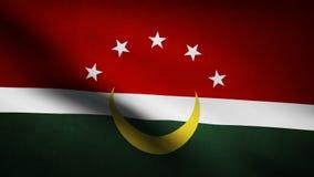 Bandera de país de Maghreb ilustración del vector