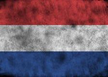 Bandera de Países Bajos del Grunge ilustración del vector