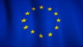 Bandera de países europeos almacen de metraje de vídeo