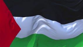 98 Bandera de Palestina que agita en fondo inconsútil continuo del lazo del viento libre illustration