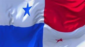 230 Bandera de Panamá que agita en fondo inconsútil continuo del lazo del viento