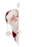 Bandera de Papá Noel Fotos de archivo
