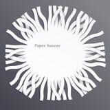 Bandera de papel Imagenes de archivo