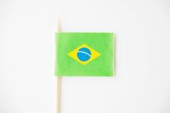 Bandera de papel brasileña en blanco Fotos de archivo libres de regalías