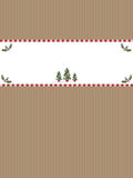 Bandera de papel de la Navidad Fotografía de archivo libre de regalías