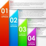 Bandera de papel de las opciones del infographics stock de ilustración
