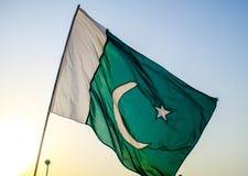 Bandera de Paquistán Fotografía de archivo